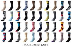 Sockumentary - a series of photos of my sock collection. I have always been a fan of fun, crazy and colorful socks, so I decided to create a collage of them.