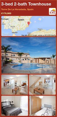 3-bed 2-bath Townhouse in Torre De La Horadada, Spain ►€179,900 #PropertyForSaleInSpain