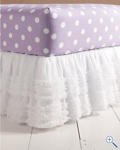tulle bedskirt......make for Miss O when she goes to a big girl bed.