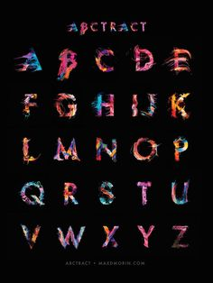 http://www.fubiz.net/2016/04/03/abstract-paint-typography-alphabet/?utm_source=feedly