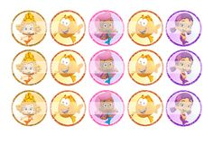 """Bubble Guppies (Girls) - 1"""" Bottle Cap Designs / DIY Hair Accessories / DIY Earrings / DIY Necklace / DIY Key Chain / Birthday Party / Party Favors / DIY Magnets / Bottle Cap Crafts / Bottle Cap Art / Bottle Cap Ideas / Bottle Cap Party Favors / Children Party Ideas / Children Party Themes / Kid Party Ideas / DIY Party Ideas"""