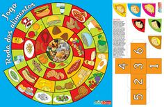 Voedselspel / AS NOSSAS PARTILHAS: Jogo - Roda dos alimentos