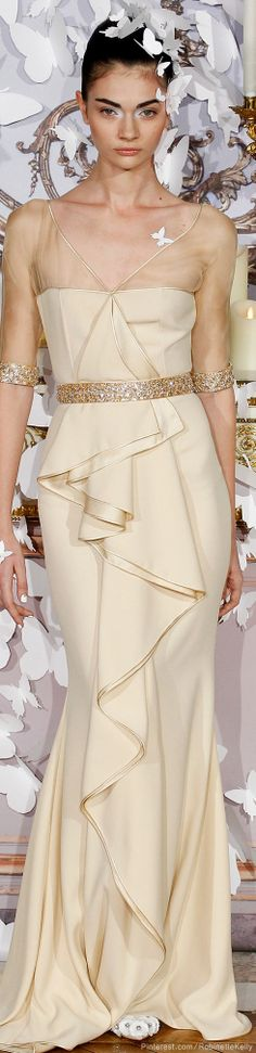 Alexis Mabille Haute Couture | S/S 2014 -- I don't love the colour, but the style is different.