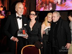 Sir Christopher Lee, Birgit Kroencke, Guest and Maximilian Schell 2nd Orange Filmball Vienna at the Townhall