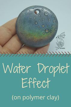 This week's tutorial shows you how to create a water droplet effect on polymer clay. It adds a lot of visual texture to a piece! Source: Water or dew drop effect on polymer clay – JSThreads Sculpey Clay, Polymer Clay Kunst, Polymer Clay Projects, Polymer Clay Creations, Polymer Clay Beads, Polymer Clay Tutorials, Make Clay Beads, Polymer Clay Recipe, Polymer Clay Painting