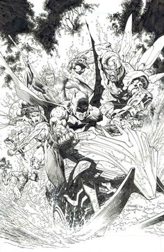 See more 'DC Comics' images on Know Your Meme! Dc Comics Heroes, Dc Comics Art, Batman Comics, Comic Book Covers, Comic Books Art, Comic Art, Book Art, Black And White Comics, Black And White Drawing