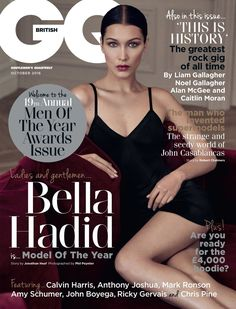 Bella Hadid || GQ Britain (October 2016 Cover)