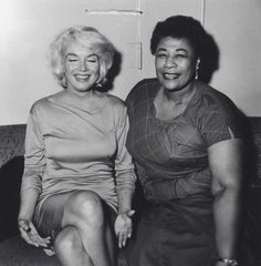 Marilyn Monroe and Ella Fitzgerald. ☚