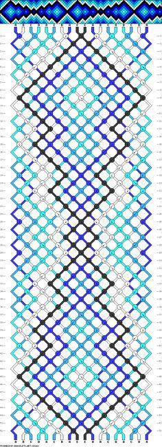 Patrón de pulsera de hilo <3