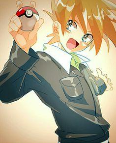 Old Pokemon, Green Pokemon, Pokemon Pocket, Cute Pokemon, Pokemon Stuff, Gary Oak, Pokemon Universe, Original Pokemon, Boy Character