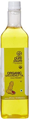 Pure & Sure Organic Ground Nut Oil Gourmet Recipes, Gourmet Foods, Cold Pressed Oil, Baking Supplies, Sunflower Oil, Organic Farming, Organic Recipes, Hot Sauce Bottles, Online Deals
