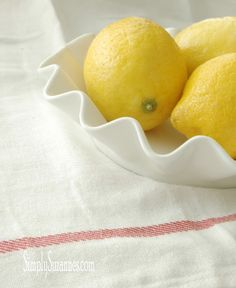 Simply Suzanne's AT HOME: lemon crinkle cookies