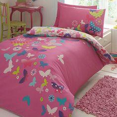 Butterfly Home by Matthew Williamson Children's pink 'Rainbow Butterflies' bedding set- | Debenhams