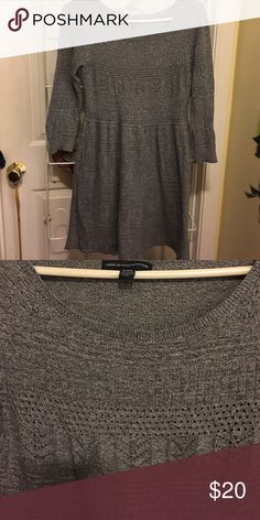 American Eagle Sweater dress Gray American Eagle size M sweater dress. Great condition! American Eagle Outfitters Dresses Mini