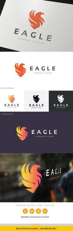 Eagle Logo by Super Pig Shop on @creativemarket