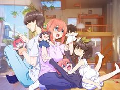 Fuutarou Uesugi & Yotsuba Nakano (The Quintessential Quintuplets) Kawaii Anime Girl, Anime Art Girl, Manga Art, Cute Anime Pics, Cute Anime Couples, Charlotte Anime, Pokemon Champions, Anime School Girl, Fan Anime