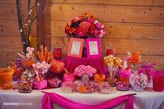DIY candy bar... never thought of this as a diy but it would be much cheaper and very cute