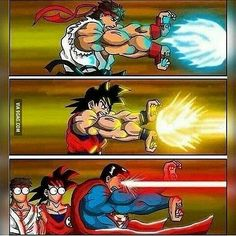 Haha wtf. Superman xD credit: artist please give credit if reposted thanks Follow: @dbz.go for more hot content! stay saiyan! Your Opinion Is Important: Leave A Comment