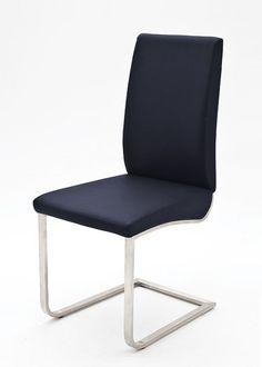 2 Freischwinger Esszimmerstuhl Stühle Blau 4860. Buy now at https://www.moebel-wohnbar.de/2-freischwinger-esszimmerstuhl-stuehle-blau-4860.html