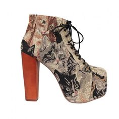presents for cat lovers  Jeffery Campbell Cat Tapestry Boots