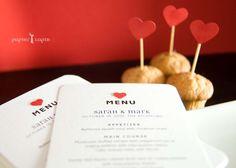 Big Red Heart MENU cards