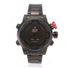 WEIDE WH1009 LED Date Multifunction Men Quartz Wrist Watch