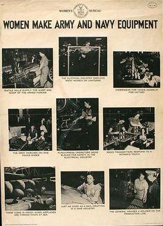 WOMEN MAKE ARMY AND NAVY EQUIPMENT. 1942