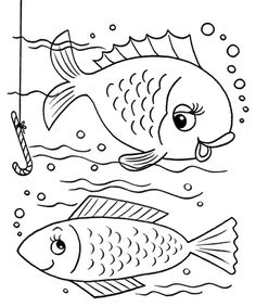 These Free Printable Coloring Book Pages Of Fish