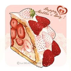 Likes, 6 Kommentare-Le delicatessen ( . Arte Do Kawaii, Kawaii Art, Cute Food Art, Cute Art, Dessert Illustration, Illustration Art, Bolo Barbie, Anime Bento, Desserts Drawing