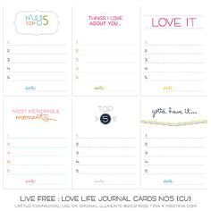 60 free journaling cards from misstiina/sugar hill co! Awesome!! :)
