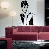 $30 wall stickers, audrey hepborn