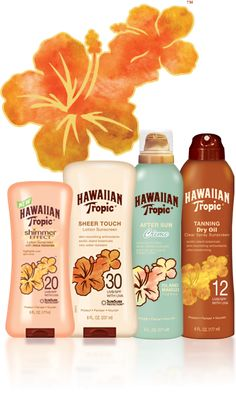 Hawaiian Tropic Sun products.  This is how I get my tan every summer. People have commented that my tan does look Hawaiian even though it's Georgian.