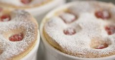 Baked almond soufflé by Simon Hopkinson