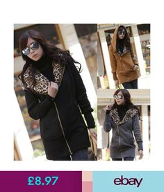 Coats & Jackets Women Winter Warm Hoodies Sweatshirt Leopard Printed Coat Jacket Long Outerwear #ebay #Fashion