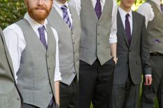 Casual Outdoor Wedding: Laura and Walker at Dorothy B. Oven Park - Floridian Social # casual Outdoor Weddings Casual Outdoor Wedding: Laura and Walker at Dorothy B. Casual Groomsmen Attire, Purple Groomsmen, Groomsmen Vest, Groomsmen Suits, Wedding Men, Wedding Suits, Wedding Ideas, Wedding Attire, Wedding Stuff