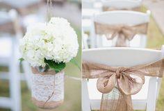 Image for Best Burlap Wedding Ideas ideas wedding decorations Hessian Wedding, Burlap Wedding Decorations, Rustic Wedding, Our Wedding, Dream Wedding, Burlap Weddings, Wedding Film, Wedding Tables, Vintage Weddings