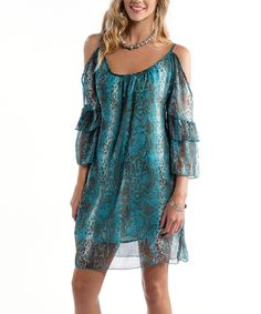 Another great find on #zulily! Blue Python Maggie Cutout Dress - Women by RU Cowgirl #zulilyfinds