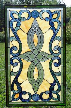 Infinity Swirl Beveled and Stained Glass