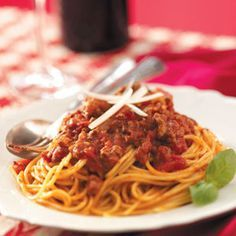 """The best pasta sauce - my family loves this one.  I start it in the crock pot in the morning, and dinner is done!   I freeze the extra for """"don't-feel-like cooking"""" days."""