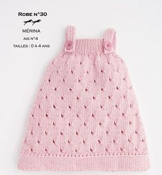 Free knitting pattern for lace baby pinafore Cheval Blanc Dress - 0-3 months (6 months) 1 years (2 years) 3 years (4 years) Pattern is multilingual.