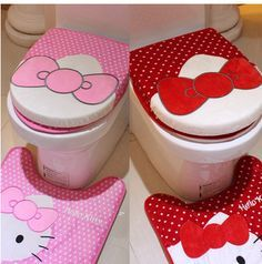 Hello Kitty bathroom decor  kitty  Pinterest  Hello kitty