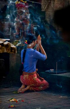 Praying is a way of life in Bali Indonesia.