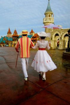 Bert and Mary Poppins at Disney. This is so perfect.