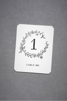 Table numbers rough idea