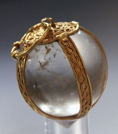 anglo saxon jewelry | Merovingian crystal ball found in the tomb of Childeric ~481 A.D