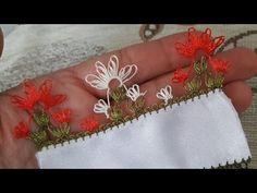 İğne oyası modelleri(1.bölüm tülbent kenarı alt sıranın yapılışı) - YouTube