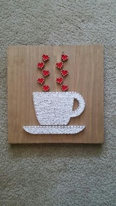 Coffee string art sign