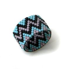 Ethnic ring Unusual boho ring Ethnic beaded ring от HappyBeadwork