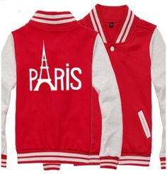 Paris Eiffel Tower baseball jackets for men plus size sweatshirt