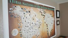80 x 54 Tribal map art canvas with 3,000 Nations,found at: www.tribalnationsmaps.com